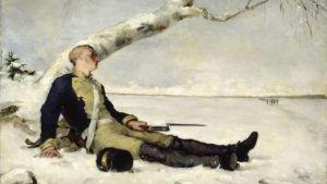 Schjerfbecks målning, Sårad soldat från år 1880.