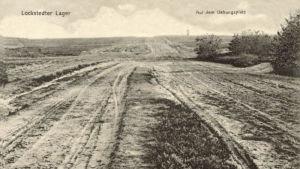 Gammalt vykort av övningsområdet vid Lockstedter Lager