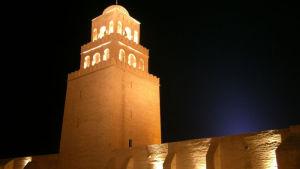 Den stora moskén i staden Kairouan i Tunisien.