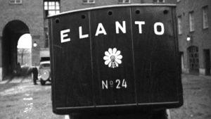 Bild på Elantos logo i Ahos & Soldans stumfilm från år 1934.