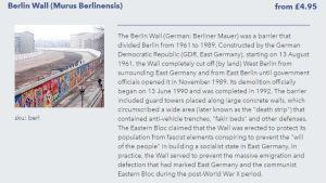 kuvakaappaus homeopaattisesta lääkkeestä joka on tehty Berliinin muurista