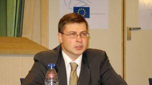 Lettlands premiärminister Valdis Dombrovskis