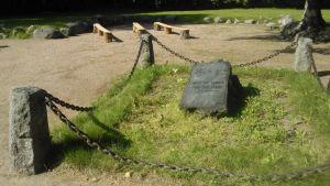 Helsingin ensimmäisen kirkon rauniot Vanhassakaupungissa