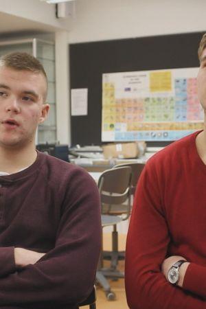Axel och Emil Nyqvist som medverkar i tv-serien Andra stadiet