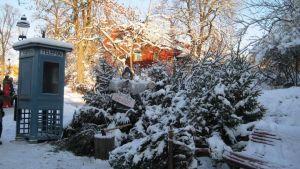 Joulutunnelmaa Skansenilla.