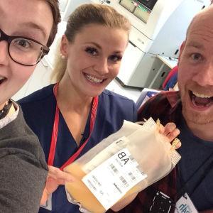 Elossa 24h kuvausryhmä Turun veripalvelussa