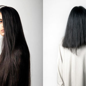 """Nayab Ikram, två verk ur utställningen """"In between"""""""