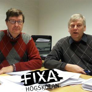 Professor Kaj Sjöholm och lektor Lars Burman på lärarutbildningen vi d Åbo Akademi.