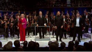 Karita Mattila, Simon O´Neill ja Mika Kares Radion sinfoniaorkesterin solisteina. Johtaa Hannu Lintu.