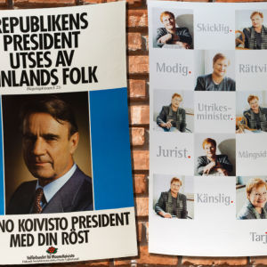 bild på gamla presidenvalsaffischer