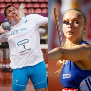 Saga Andersson, Eero Ahola och Elina Kinnunen i bildcollage.