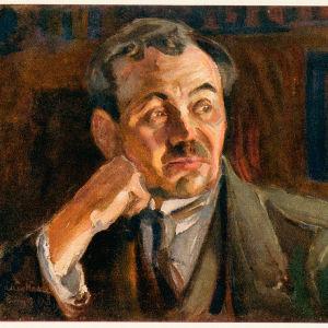 Akseli Gallen-Kallelan maalaus ytävästään Eino Leinosta vuodelta 1917