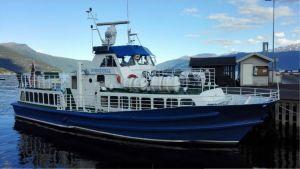 M/S Norrskär hetter tidigare Sognefjell och trafikerade den norska västkusten.