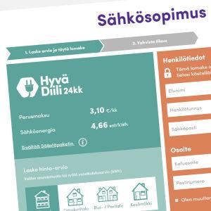 Kuvakaappaus Kotimaan Energian verkkosivuilta.