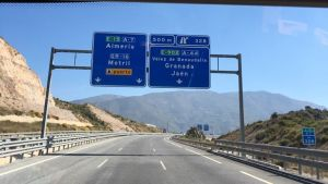På väg med husbilen genom Europa.