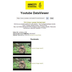 Youtube DataViewer