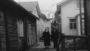 Katunäkymä Iistä 1950-luvulta