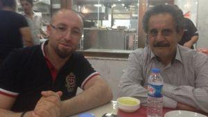 Muhis Azizi med vännen Fahmi Mahmood
