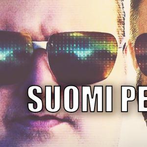 Kim Dotcom ja Riku Rantala vierekkäin, päällä teksti Suomi Perkele!