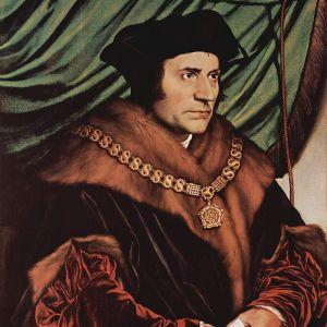 Den brittiske samhällsfilosofen Thomas More, avbildad av Hans Holbein d.y.