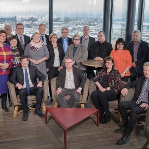 Bild av medlemmarna i Yles förvaltningsråd.