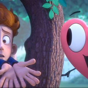 I animationsfilmen In a Heartbeat hoppar hjärtat ur bröstet på Sherwin.