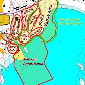 En liten karta av Ingåstrand