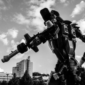 En robot i Esbo centrum.