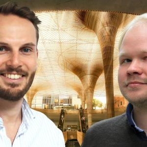 Ted Schauman, Eero Lundén ja havainnekuva Tampereen asemakeskuksesta