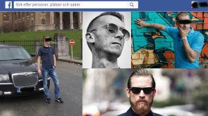 Ett montage med profilbilder från Facebook, de estniska försäljarna har hemliga profiler på Facebook.