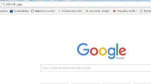 Skärmdump på Sökfältet i Googles sökmotor.