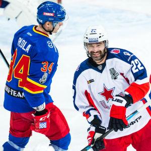 CSKA Moskva firar mål mot Jokerit.