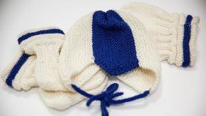 Marthaförbundets stickade babypaket för barn som föds den 6 december 2017.