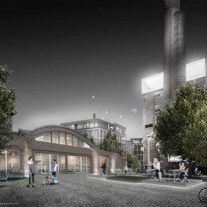 Vision på hur området kring Åbo Energi ska se ut.
