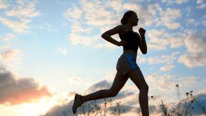 Springa, kvinna, träning
