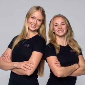 Mikaela Wulff och Noora Ruskola.