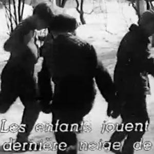 """Ote Jörn Donnerin lyhytfilmistä """"Näinä päivinä"""" (1955)."""