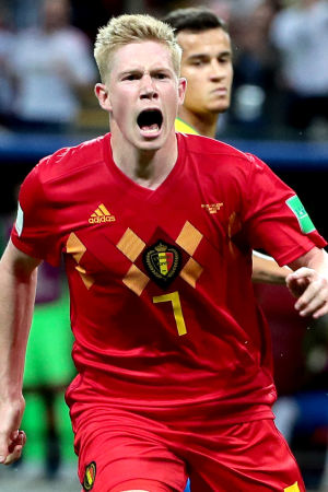 Målskytten Kevin De Bruyne fick spela i en fri offensiv roll i VM-kvartsfinalen mot Brasilien.