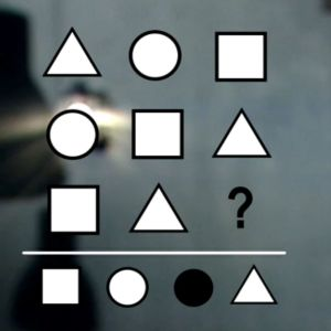 Kuviopäättelytesti, jota käytetään loogisen päättelykyvyn mittaamiseen.