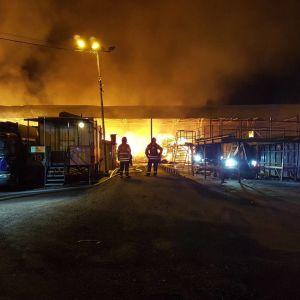 Stor brand i Rosendal i Vanda den 27 mars 2017.