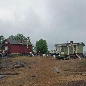 Stuga vid Hanhikivi-området i Pyhäjoki, där Fennovoima är i färd med att bygga kärnkraftverk.