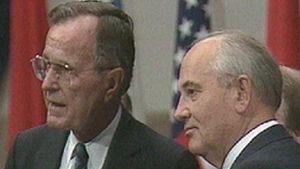 George H.W. Bush ja Mihail Gorbatsov.