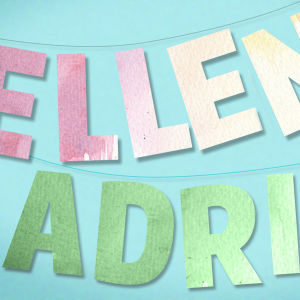 Grafik med namnen Ellen och Adrian