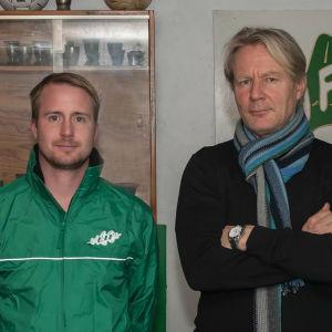 Porträttbild av Jens Mattfolk och Kari Virtanen.