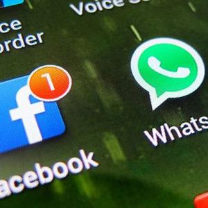 Facebook- och Whatsappiokoner.