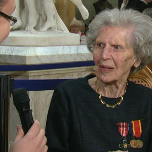 Margareta Söderlund, tidigare Lotta, vid självständighetsmottagningen den 6 december 2014.