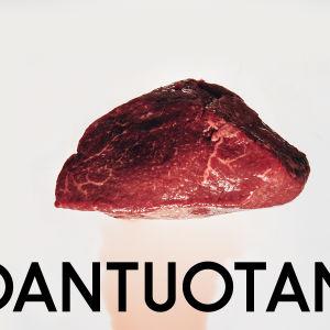 Battlen ruoantuotantokokonaisuuden teemakuva. Kuvassa verinestettä valuva paisti.