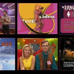 Kuvakollaasi ohjelmasta Videotreffit