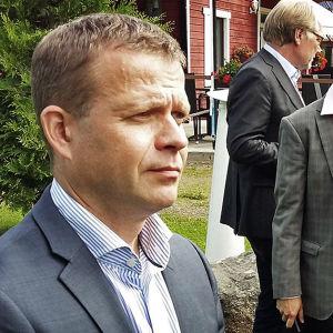 Samlingspartiets ordförande Petteri Orpo i Jyväskylä den 15 augusti 2016.
