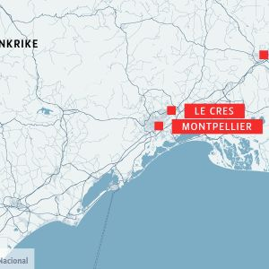 Karta över Frankrike